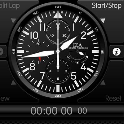 iPhone 4S のクールな時計アプリDchronoProを紹介